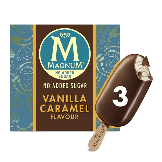 Magnum No Added Sugar Vanilla Caramel Ice Cream 3x90ml