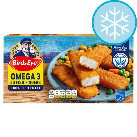 Birds Eye 20 Omega 3 Fish Fingers 560G