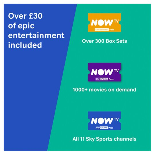 image 1 of NOW TV Smart Stick with 1 month Entertainment 1 month Sky Cinema and 1 day Sky Sports