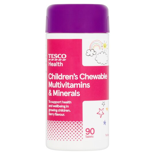 Tesco Kids Chewable Multivitamins Plus Minerals X 90