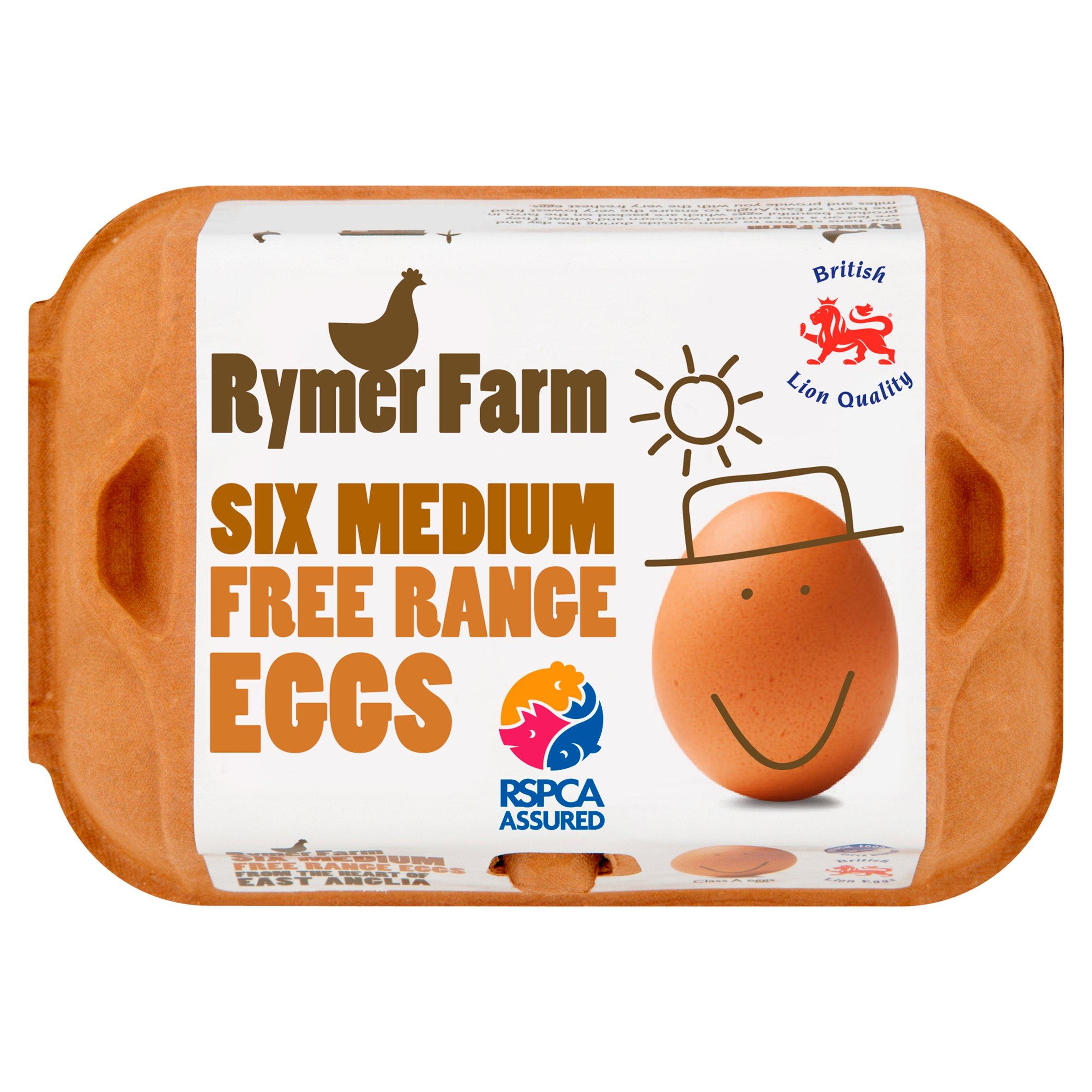 Rymer Farm Eggs Medium Free Range 6 Eggs