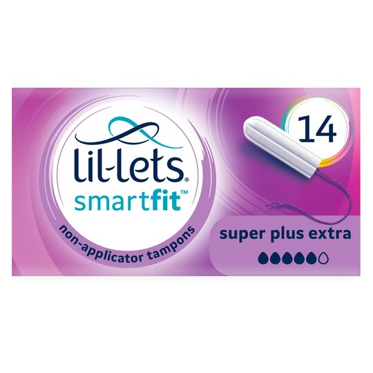 Lil Lets Non Applicator Super Plus Extra Tampons 14 Pack