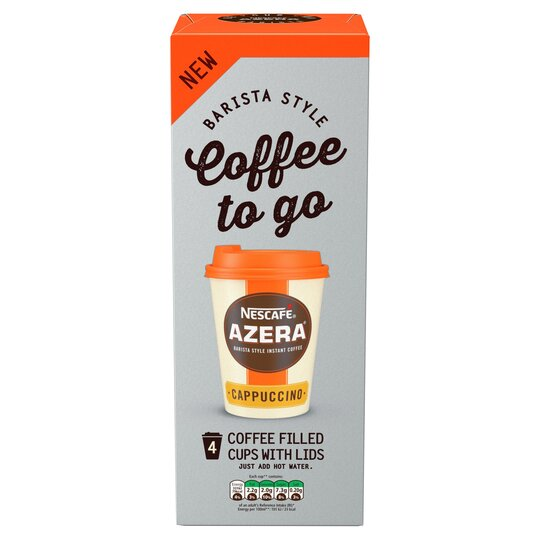 Nescafe Azera To Go Cappuccino 4 Cups 80g Tesco Groceries