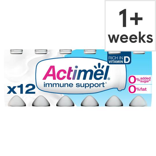 image 1 of Danone Actimel Fat Free Original Drink 12X100g