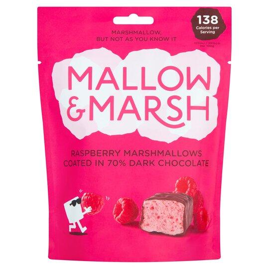 Mallow & Marsh Raspberry Marshmallow Coat Dark Chocolate 100G