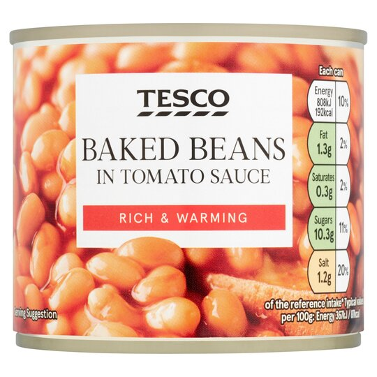 Tesco Baked Beans In Tomato Sauce 220g Tesco Groceries