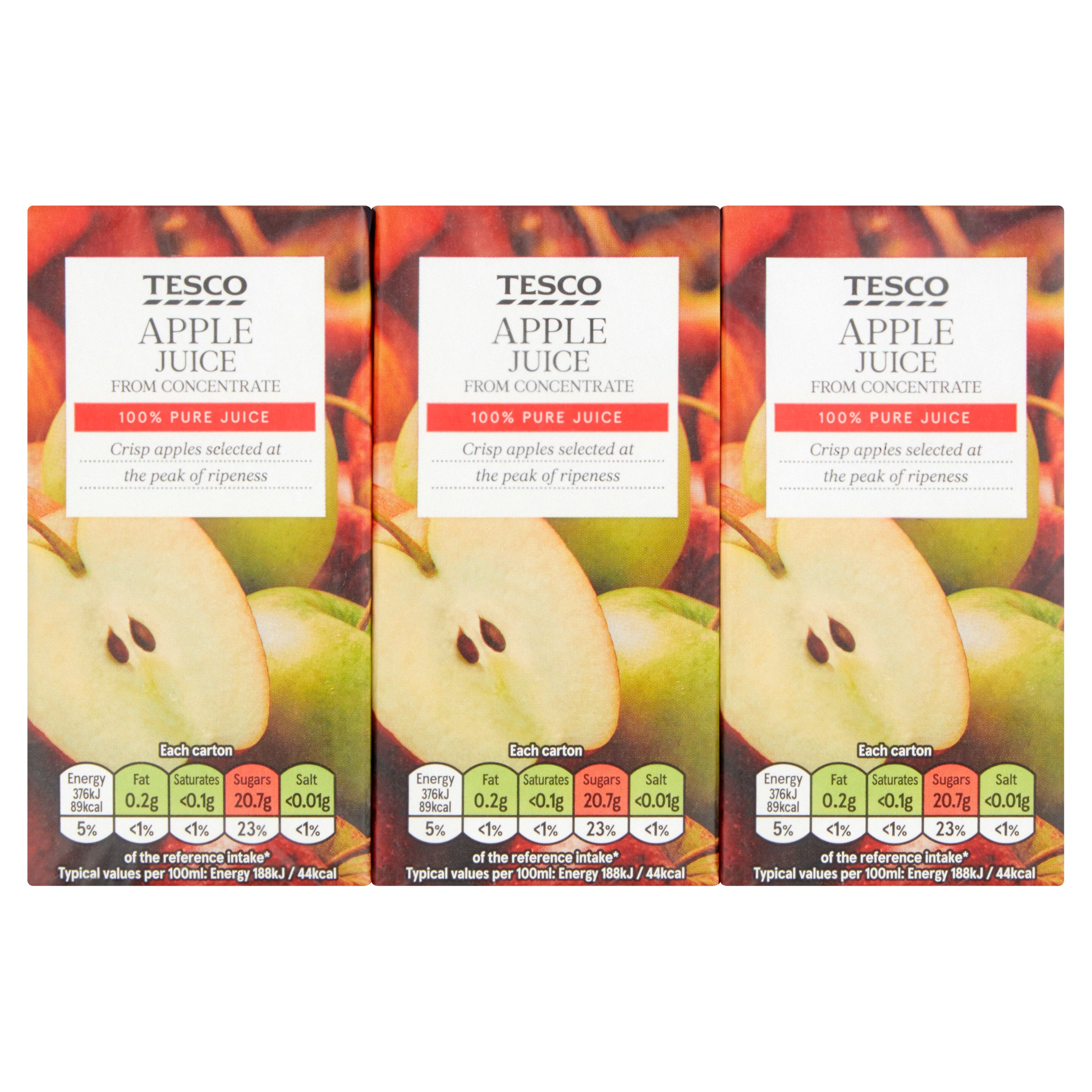Tesco Pure Apple Juice 3X200ml