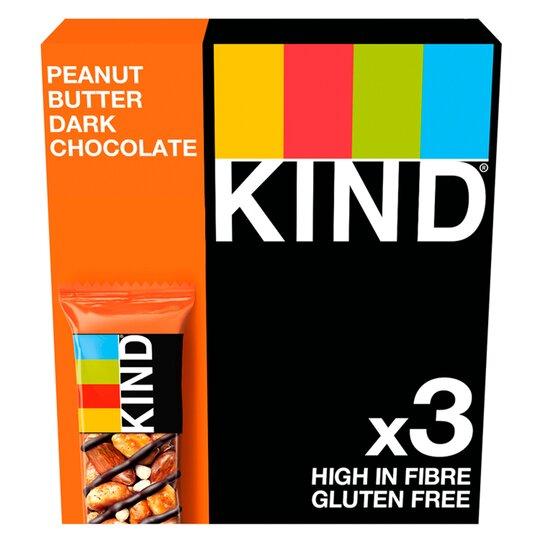 Kind Peanut Butter Dark Chocolate Bar 3X40g
