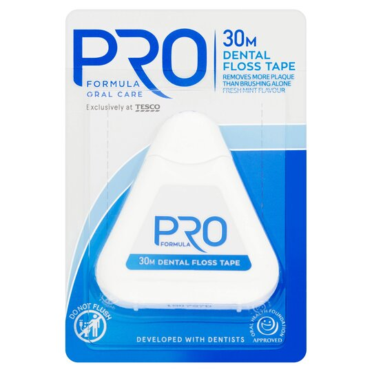 Tesco Pro Formula Dental Floss Tape 30M