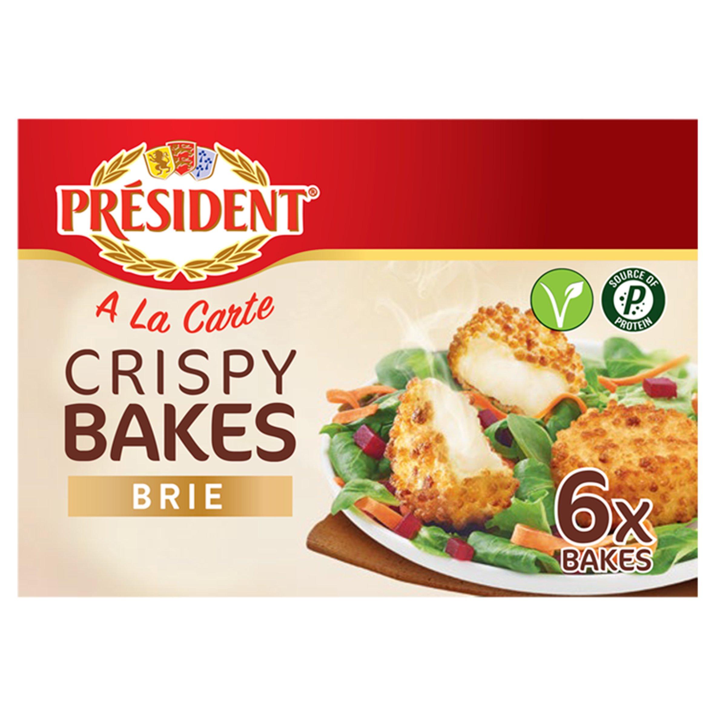 President A La Carte Crispy Bake With Brie 6X25g