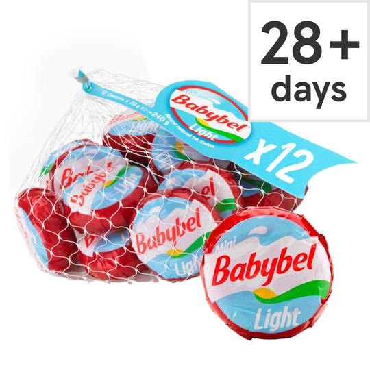 Mini Babybel Light 240G 12 Pack - Tesco