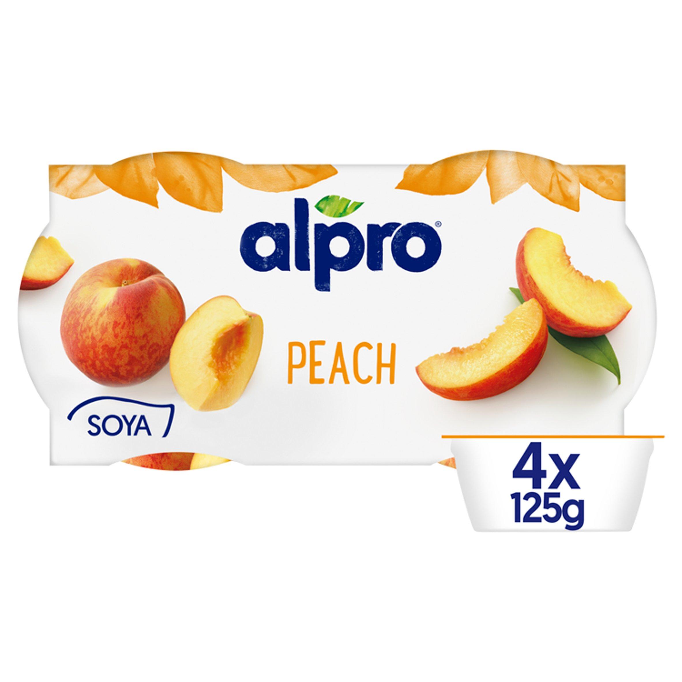 Alpro Peach Yogurt Alternative 4X125g