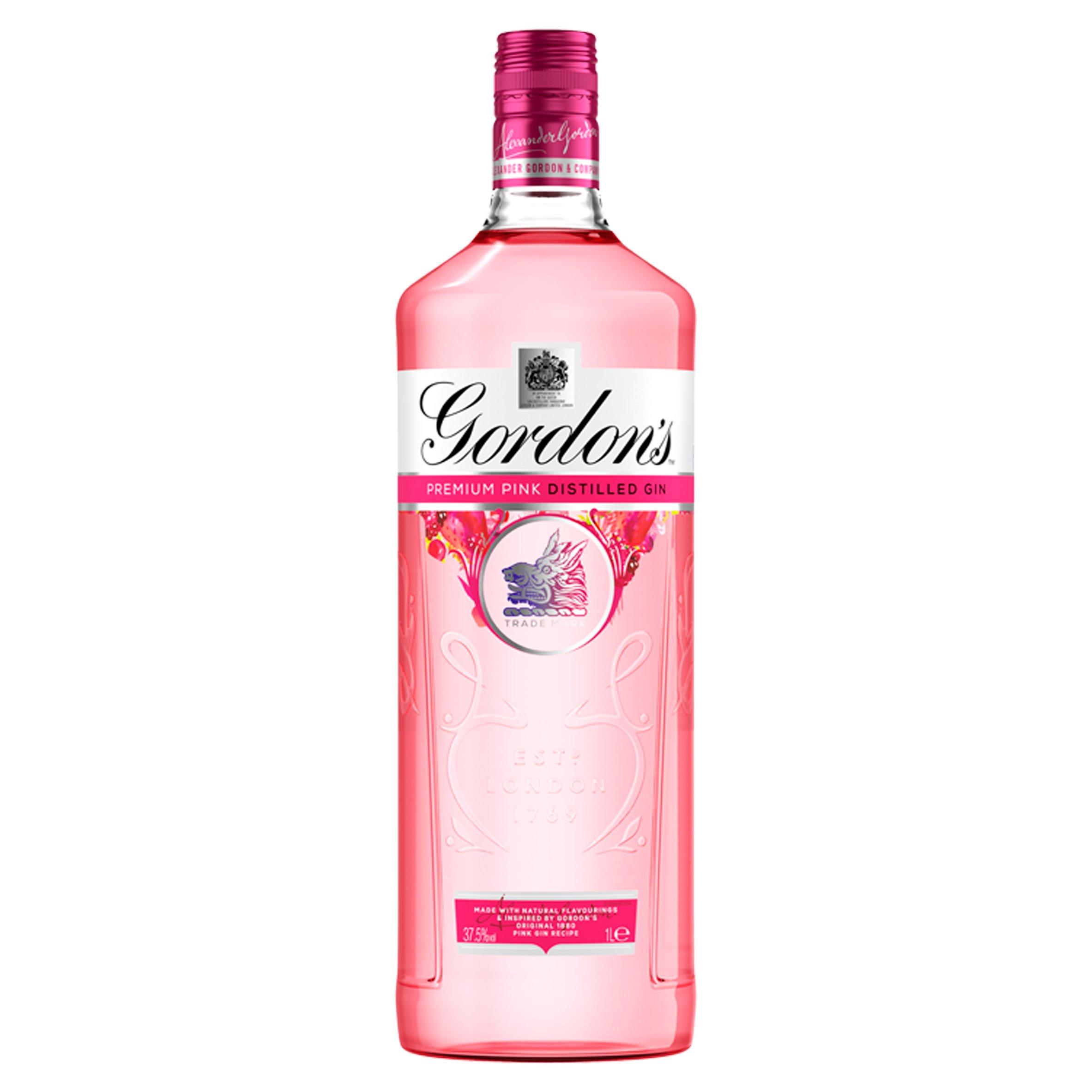 Gordon's Premium Pink Distilled Gin 1 Litre