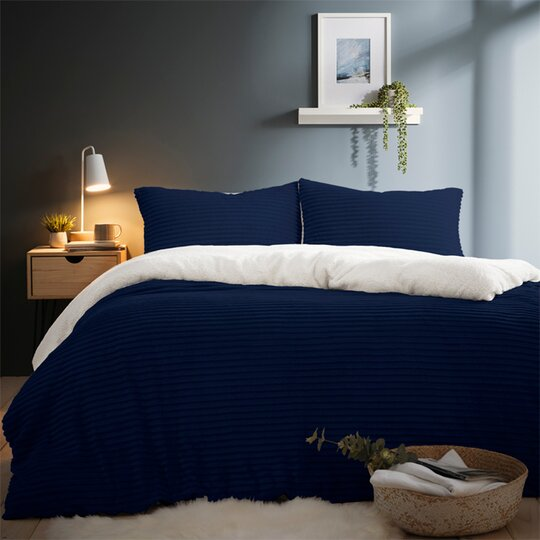Silentnight Jumbo Cord Teddy Duvet Set, Tesco Direct Double Bedding Sets