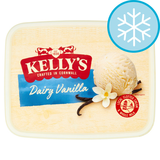 Kelly's Cornish Vanilla Dairy Ice Cream 2 Litres