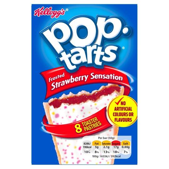 Kellogg's Pop Tarts Strawberry 8X50g