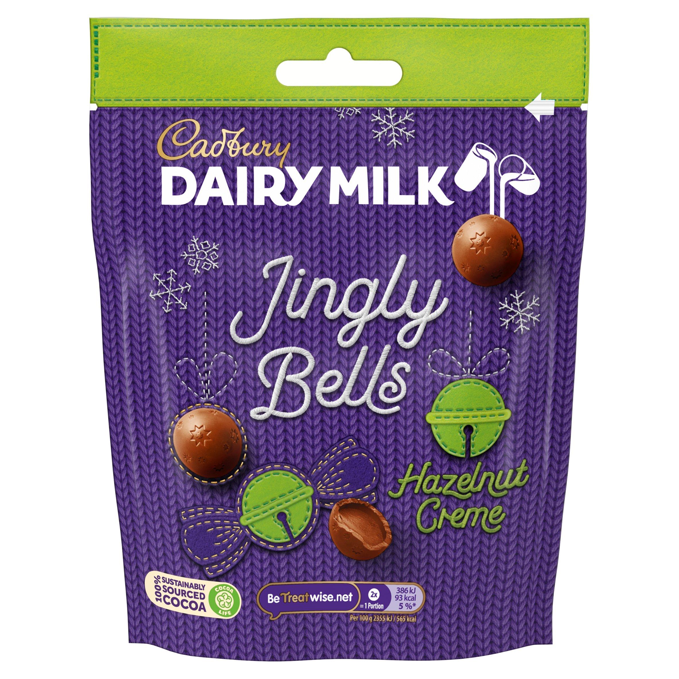 Cadbury Jingly Bells Hazelnut Creme 73G