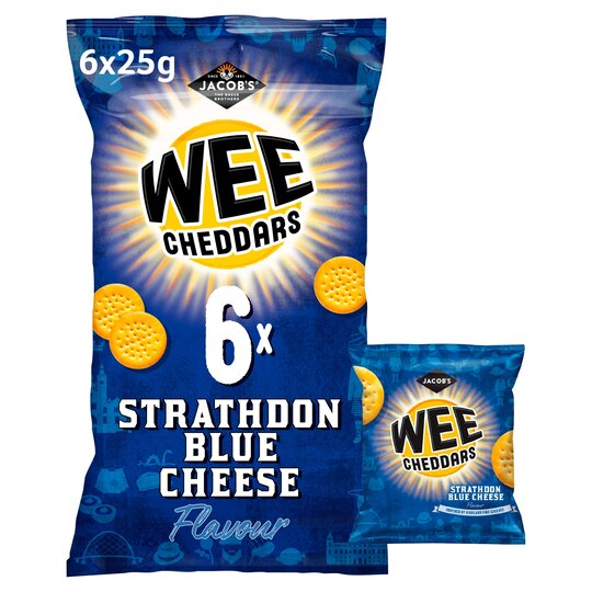 Jacob's Wee Cheddars Blue Cheese 6X25g