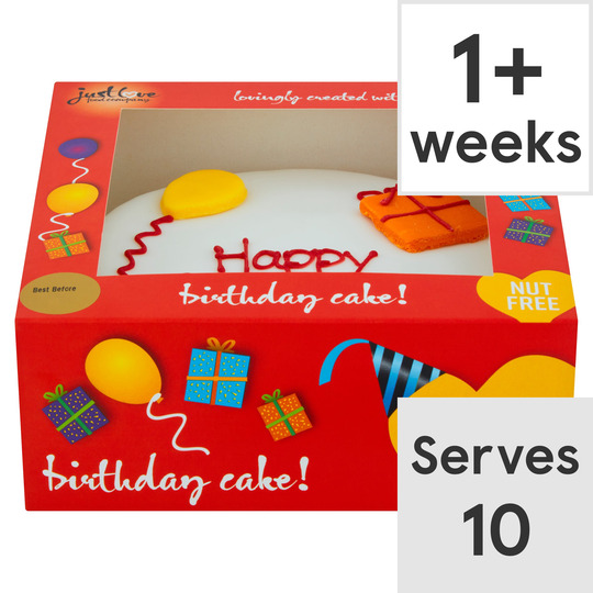 Stupendous Just Love Birthday Cake Tesco Groceries Funny Birthday Cards Online Fluifree Goldxyz