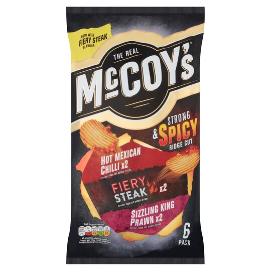 image 1 of Mccoy's Strong & Spicy Crisps 6X25g