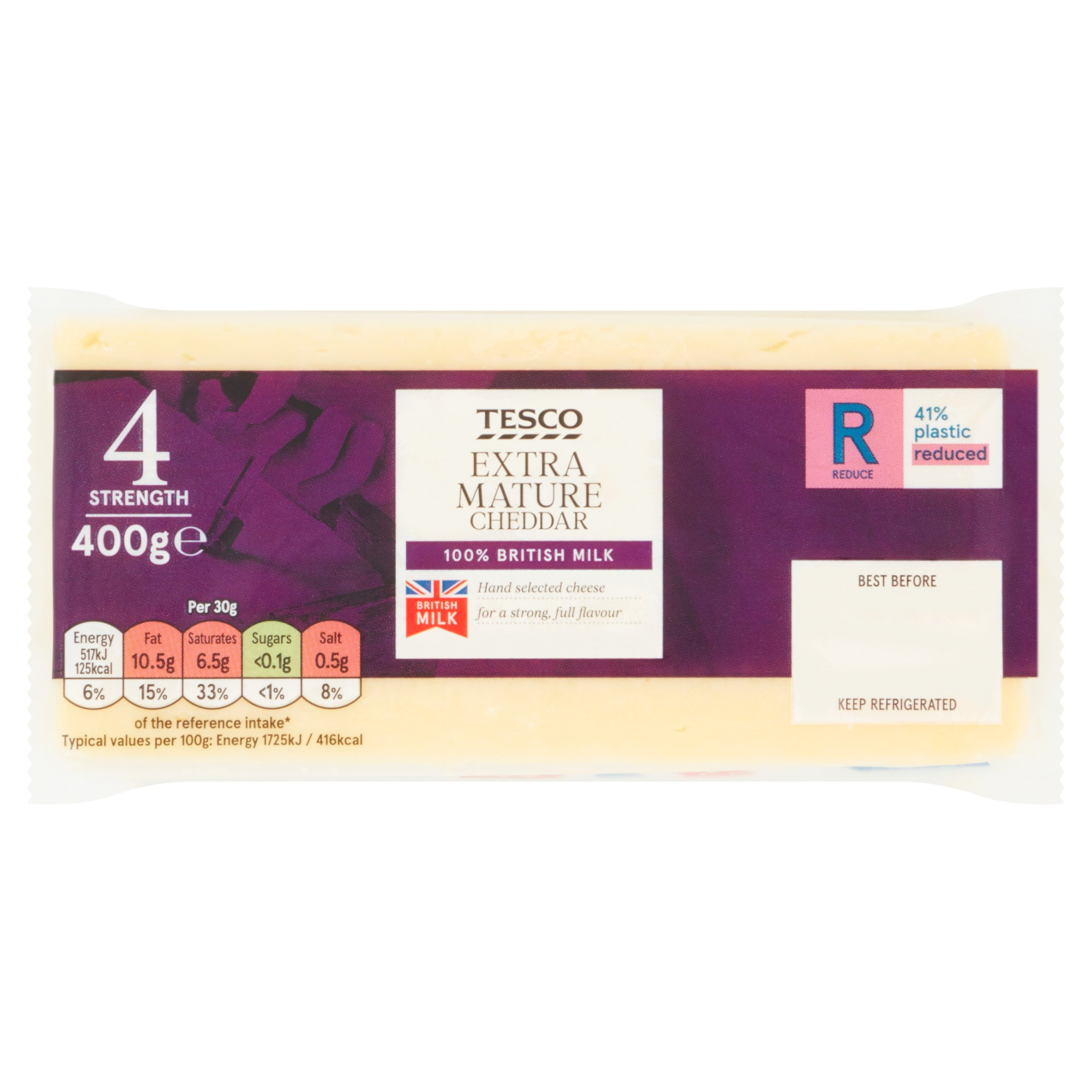 Tesco Extra Mature Cheddar Cheese 400G