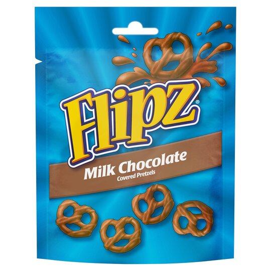 Flipz Milk Chocolate Coated Pretzels 100G