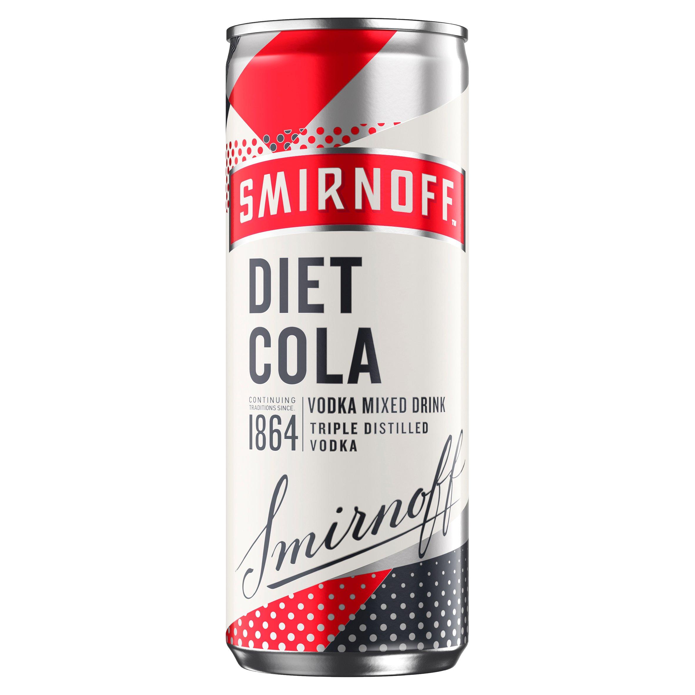 Smirnoff & Diet Cola 250Ml
