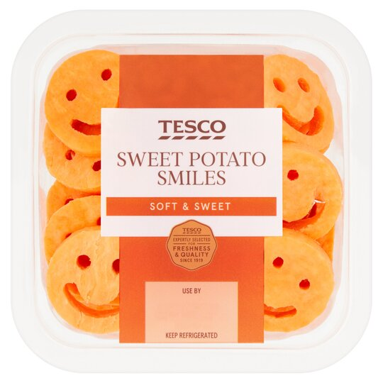 Tesco Sweet Potato Shapes 250g Tesco Groceries