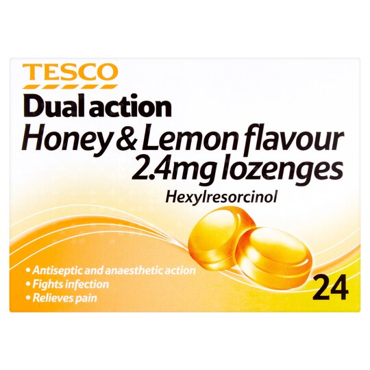 Tesco Antiseptic Throat Lozenges 24'S Lemon