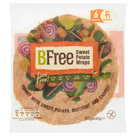 Bfree Sweet Potato Gluten Free Wrap 6X42g