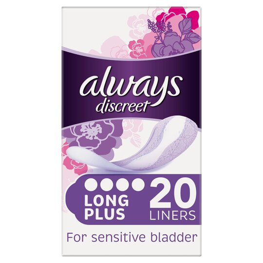 image 1 of Always Discreet Plus Incontinence Panty Liners 20 Pack