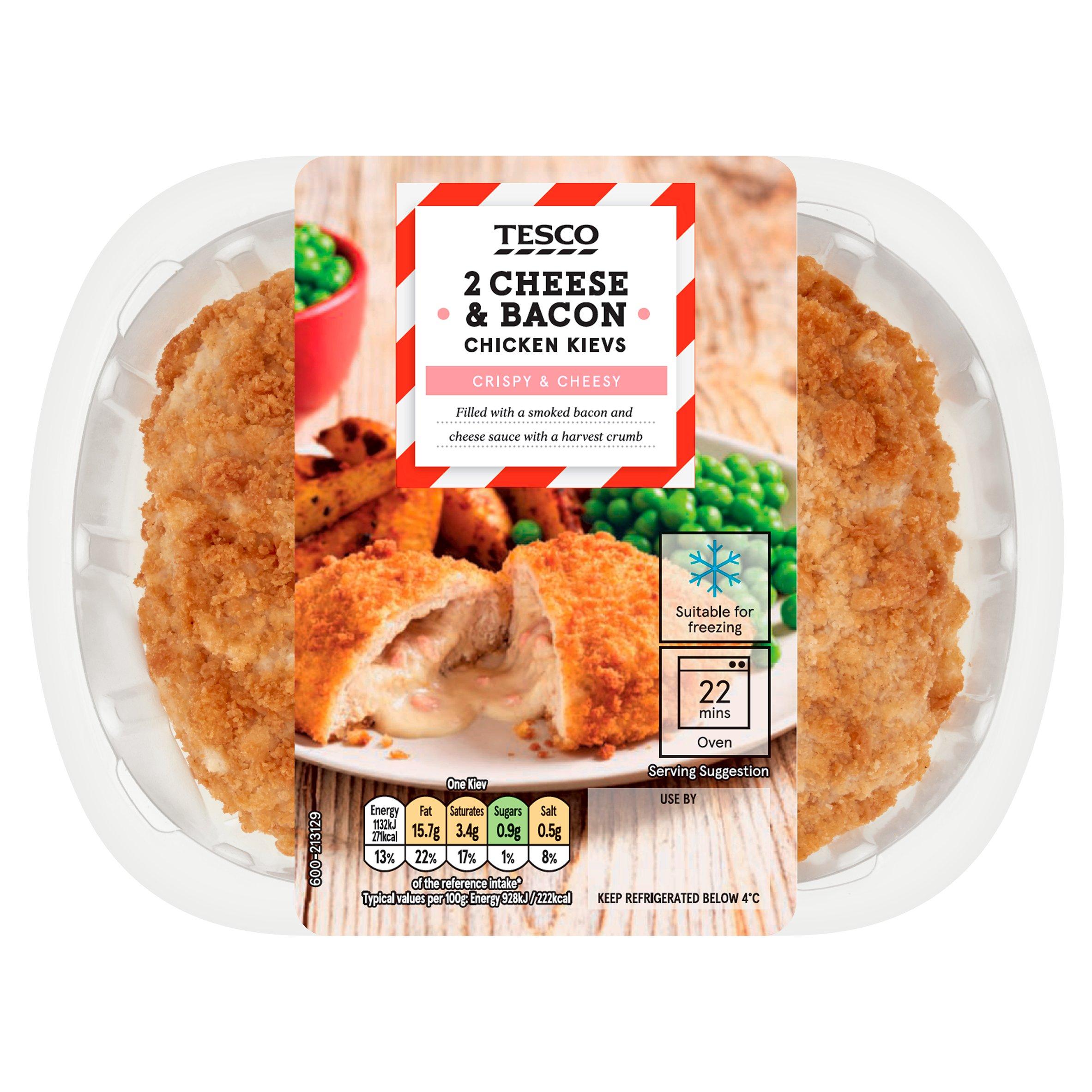 Tesco 2 Cheese & Bacon Chicken Kiev 260G
