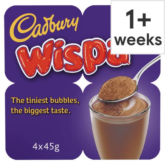 Cadbury Wispa Bubbles Of Joy Chocolate Mss 4X45g