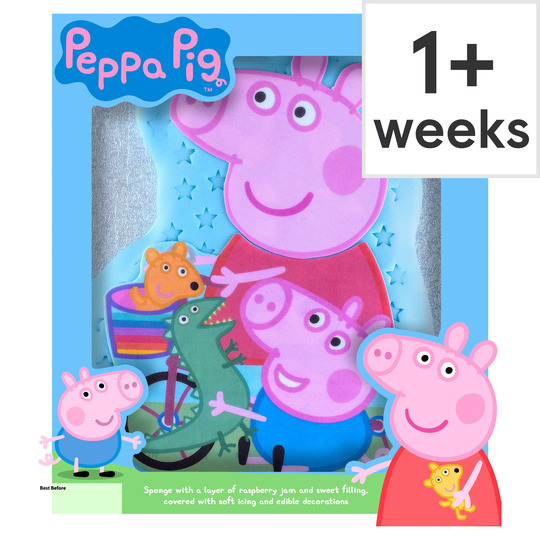 Phenomenal Peppa Pig Celebration Cake Each Tesco Groceries Funny Birthday Cards Online Overcheapnameinfo