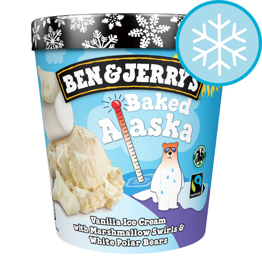 image 1 of Ben & Jerry's Baked Alaska Vanilla Ice Cream 465Ml
