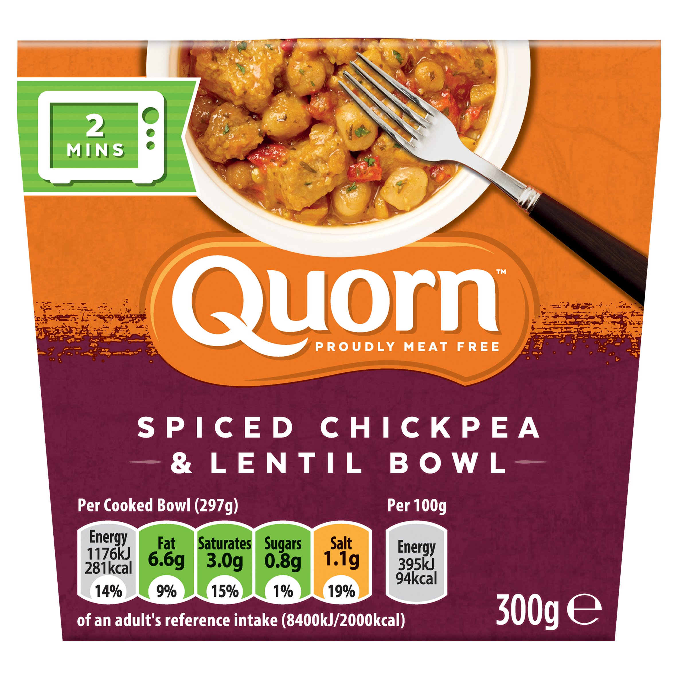 Quorn Spiced Chickpea &Lentil Bowl 300G