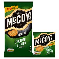 image 2 of Mccoy's Cheddar & Onion Crisps 6X25g