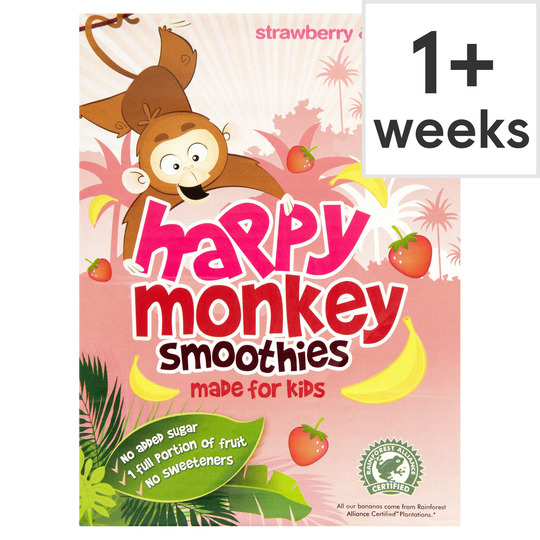 Happy Monkey Strawberries & Bananas 4 Pack