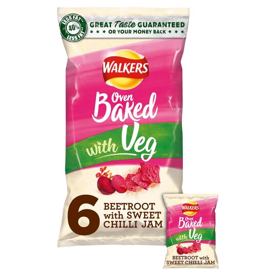 image 1 of Walkers Oven Baked Beetroot & Sweet Chilli 6X23g