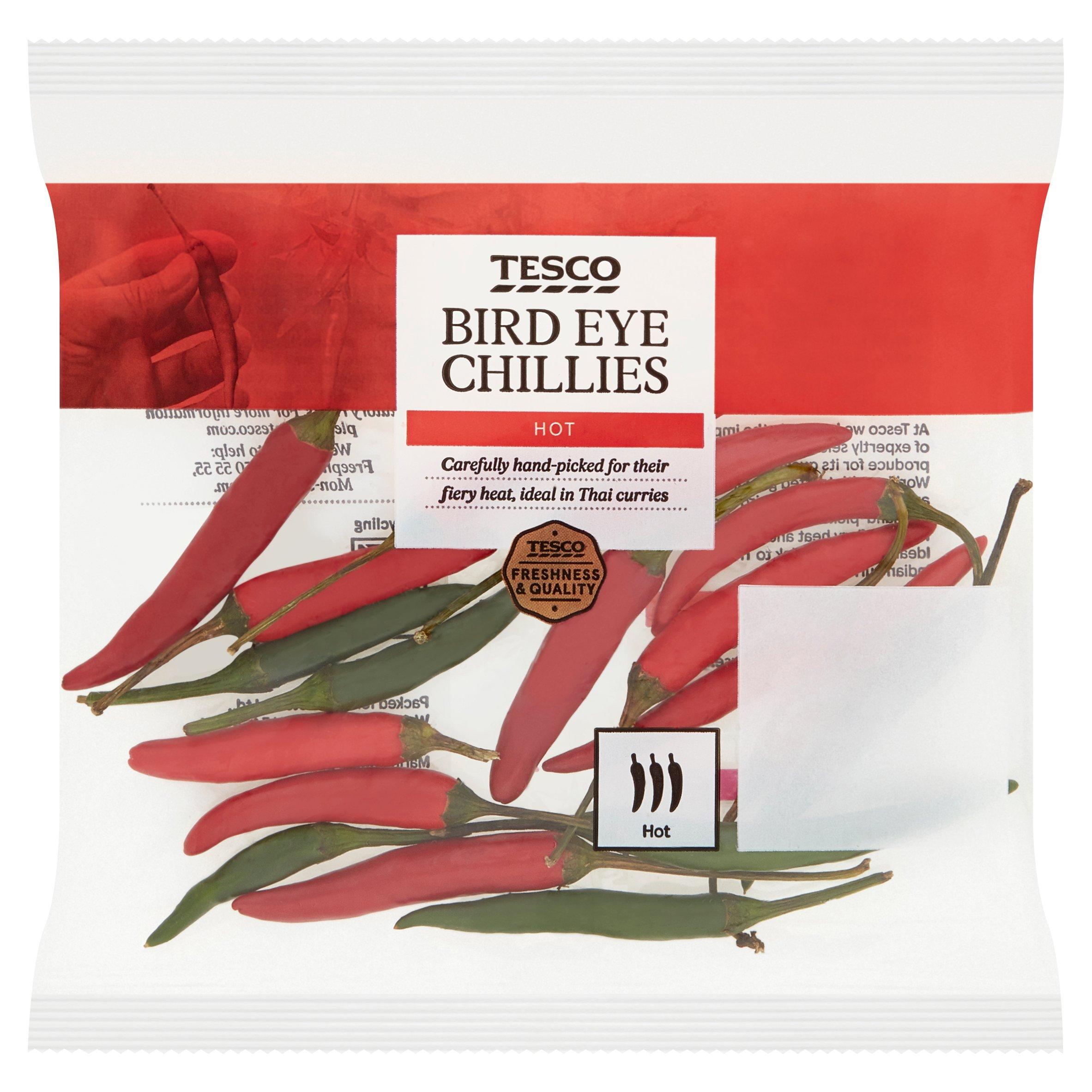 Tesco Bird Eye Chillies 25G Price Marked