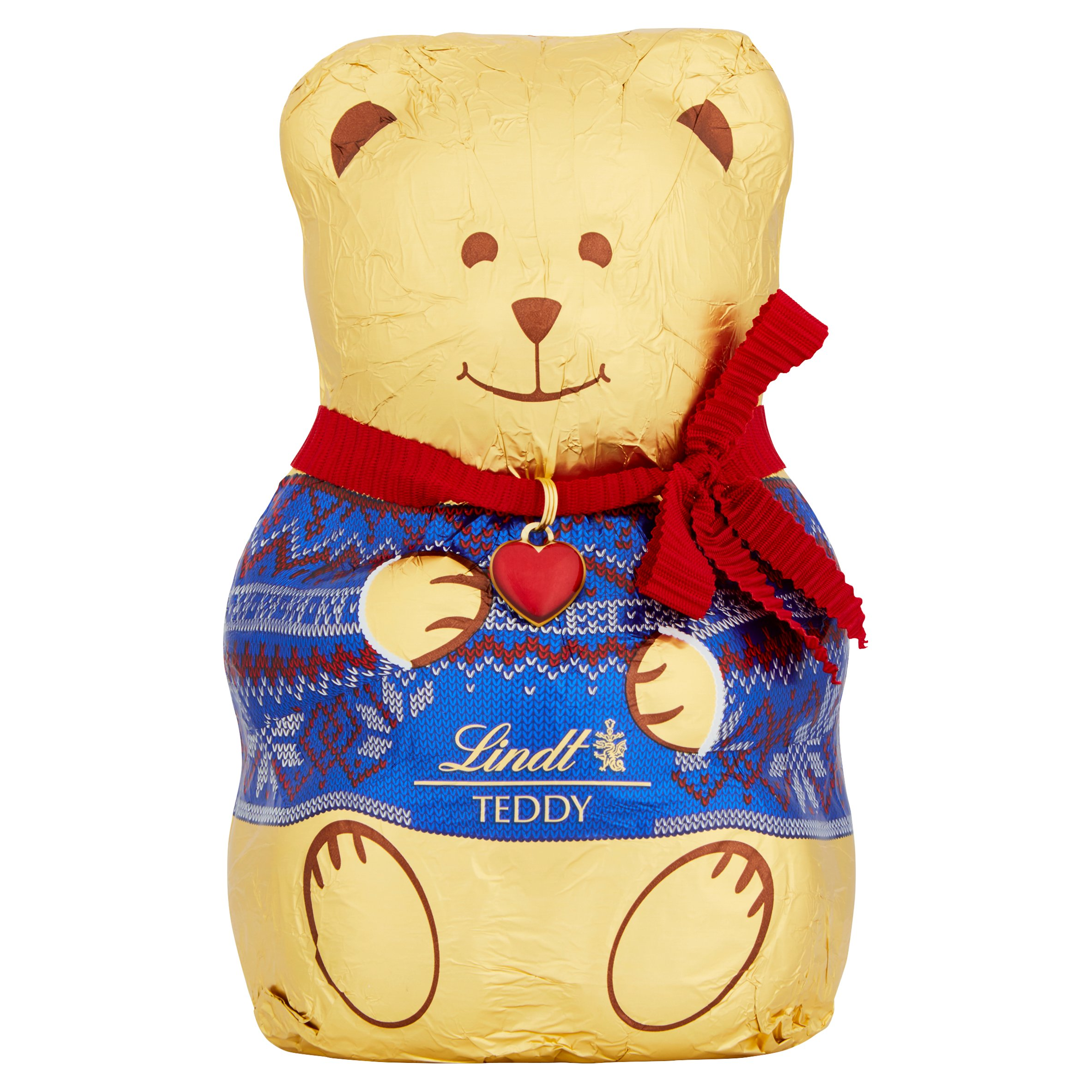 Lindt Christmas Teddy With Sweater Milk Chocolate 200G