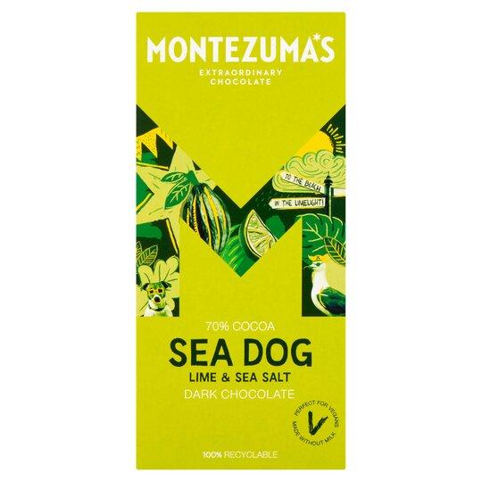 Montezuma's Sea Dog Dark Chocolate Lime&Seasalt 90G