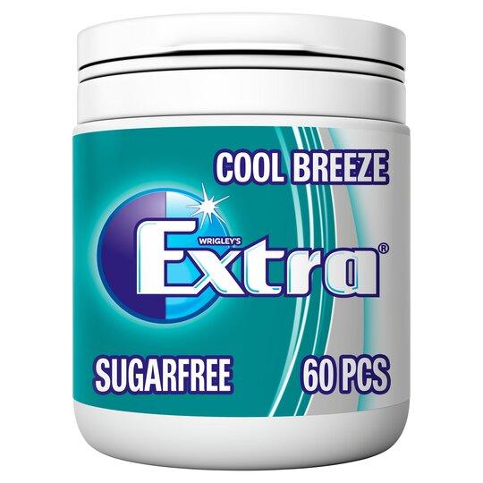 Extra Coolbreeze 60 Piece Bottle 84g Tesco Groceries