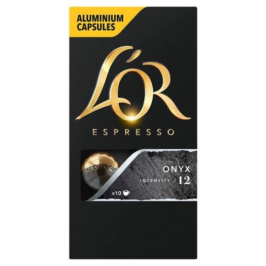 image 1 of L'or. Espresso Onyx Ground Coffee 10 Capsules 52G