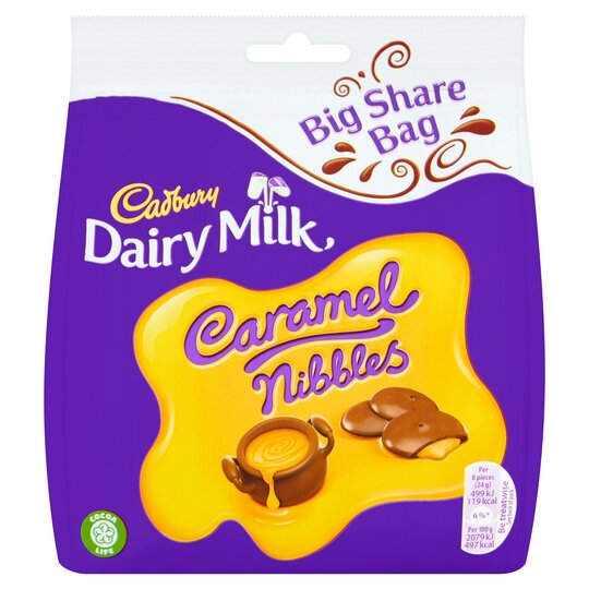 Cadbury Caramel Caramel Nibbles Bag 242G