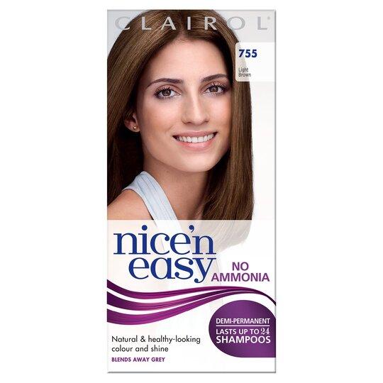 Nice'n Easy No Ammonia Light Brown 755 Hair Dye