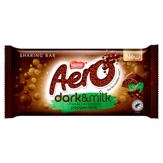 Aero Dark & Milk Peppermint Chocolate Sharing Bar 90G