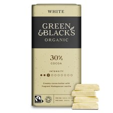 image 2 of Green & Black's Organic White Chocolate 90G