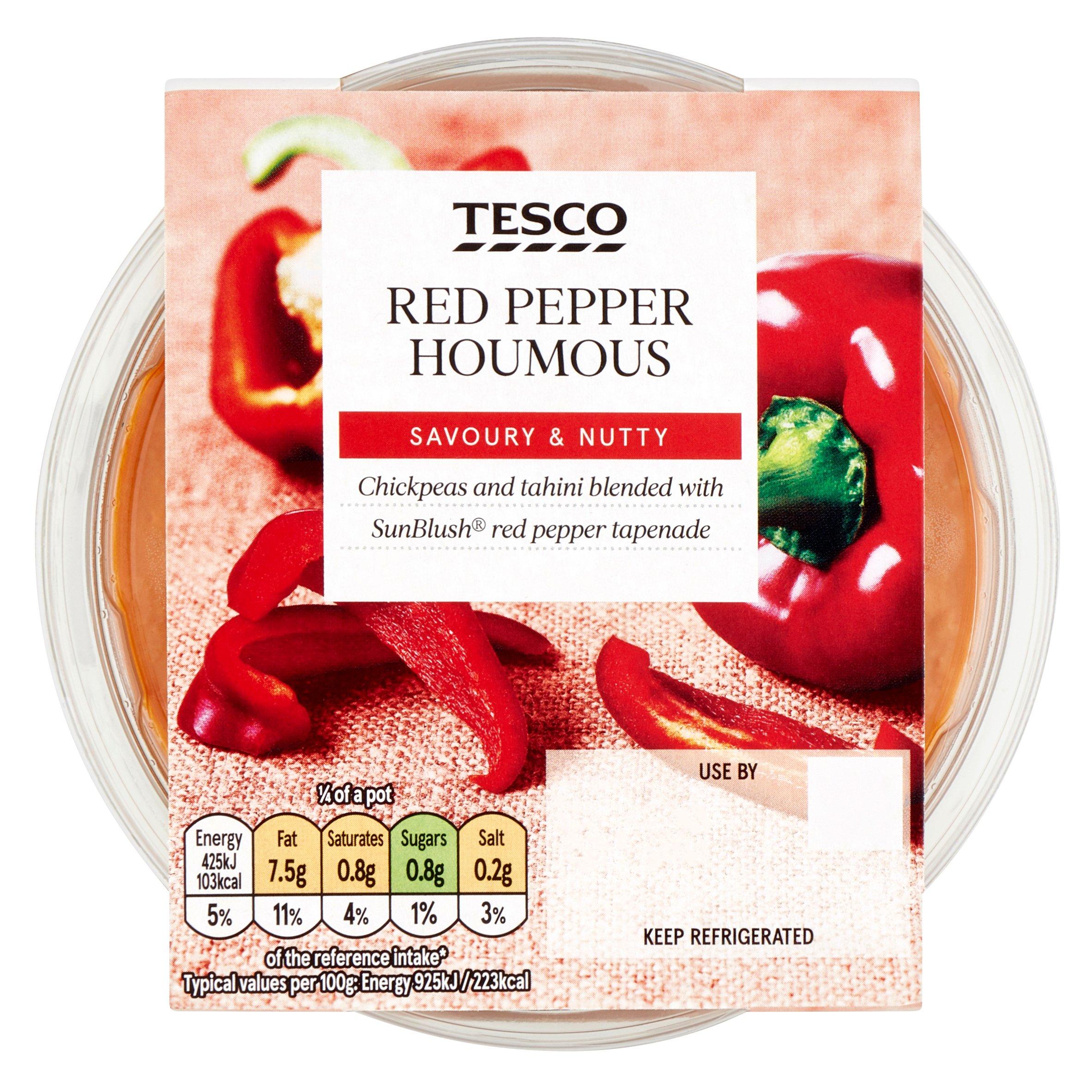 TESCO > Fresh Food > Tesco Houmous Red Pepper 182G