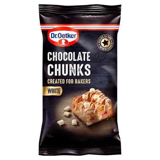 Dr Oetker Chocolate Chunks White 100G